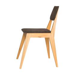 Стул SKINNY с мягкой спинкой и сиденьем в скандинавском стиле