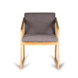 Кресло OREO из дуба в скандинавском стиле для дома и офиса