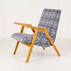 Кресло RONNIE  в скандинавском стиле из дуба и бука