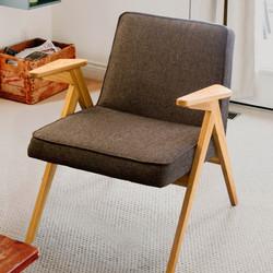 Кресло HOLME из дерева в ретро стиле