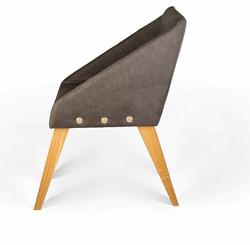Кресло UNO с латунными креплениями