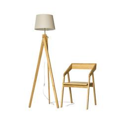Светильник напольный RAY и стул MOHAWK скандинавский стиль