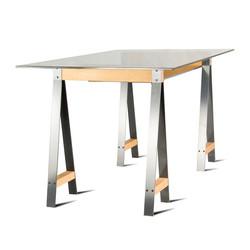 Стол MOODY письменный из металла и дерева индустриальный стиль