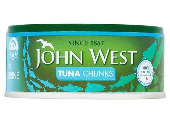 JOHN WEST TUNA CHUNKS IN BRINE (145G)