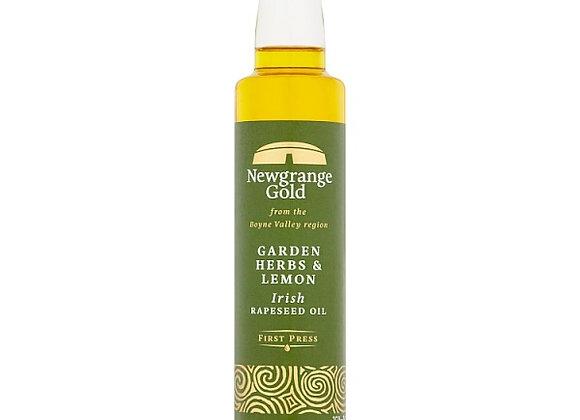 NEWGRANGE GOLD GARDEN HERBS AND LEMON RAPESEED OIL (250ML)
