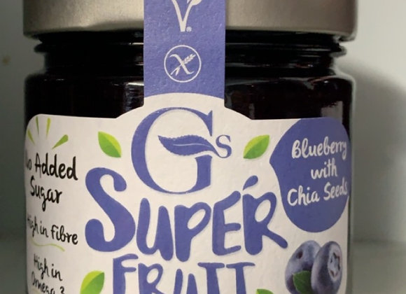 GOURMET PRESERVES BLUEBERRY WITH CHIA SEEDS SUPER FRUIT SPREAD