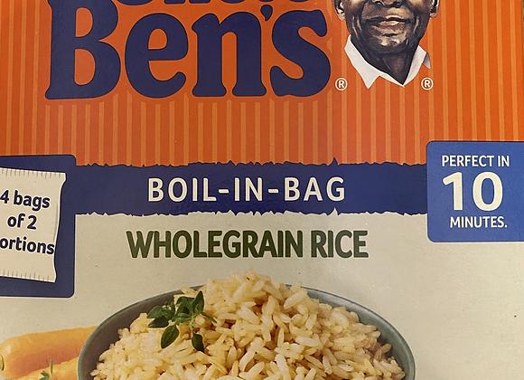 UNCLE BENS WHOLEGRAIN BOIL IN A BAG ( 4 BAGS OF 2 PORTIONS)