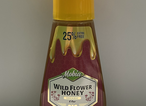 RAW AND ORGANIC WILDFLOWER HONEY (350G SQUEEZE BOTTLE)