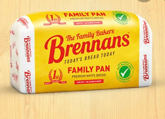 BRENNANS WHITE SLICED PAN