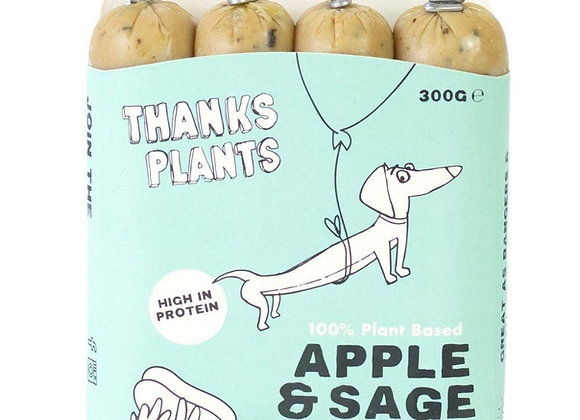 THANKS PLANTS 100% PLANT BASED APPLE AND SAGE SAUSAGES (300G)
