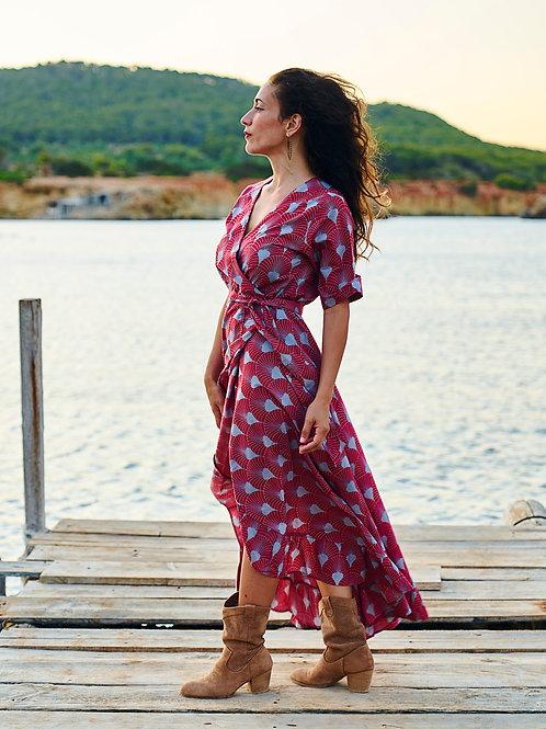 Ibiza Red Long Dress