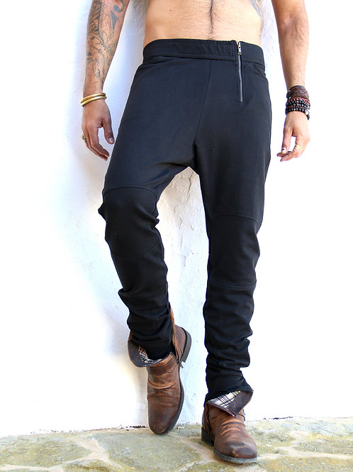 Black Biker Pants