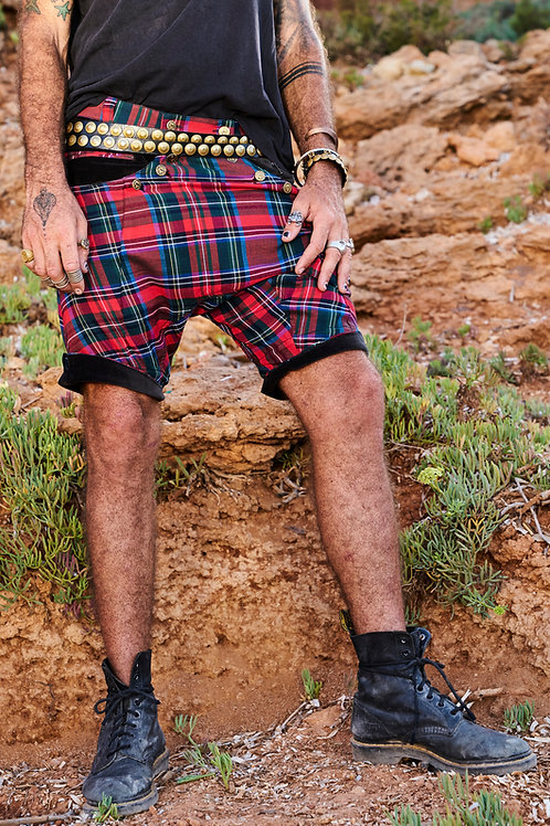 Red Plaid Ibiza Shorts
