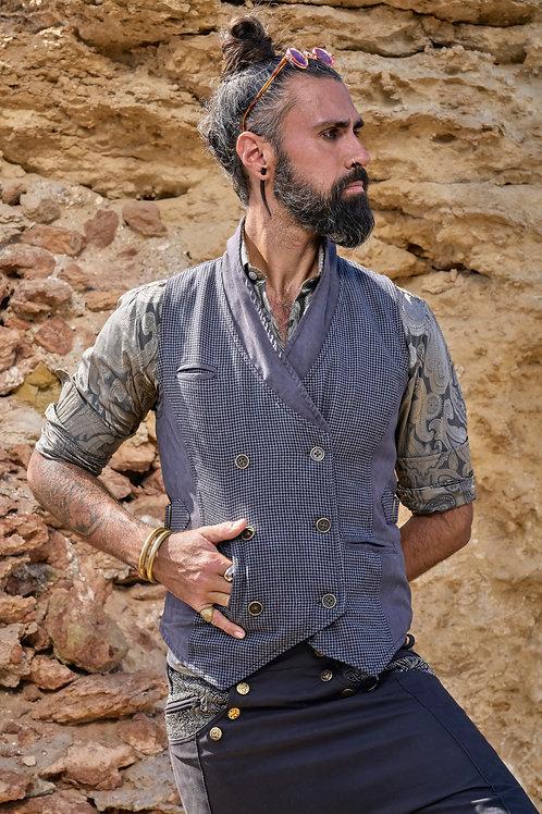Gray Houndstooth  Vest