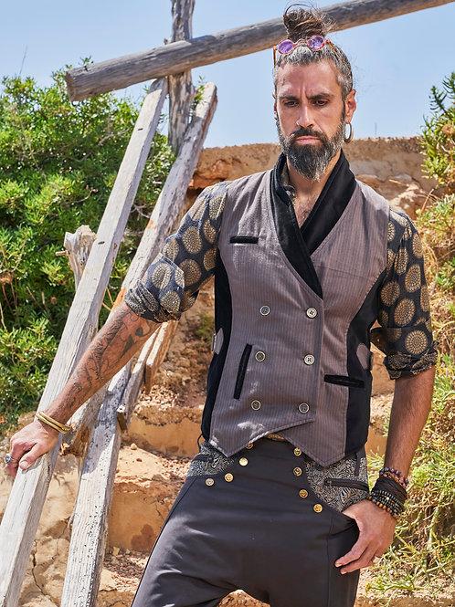 Gray Pinstripe Vest