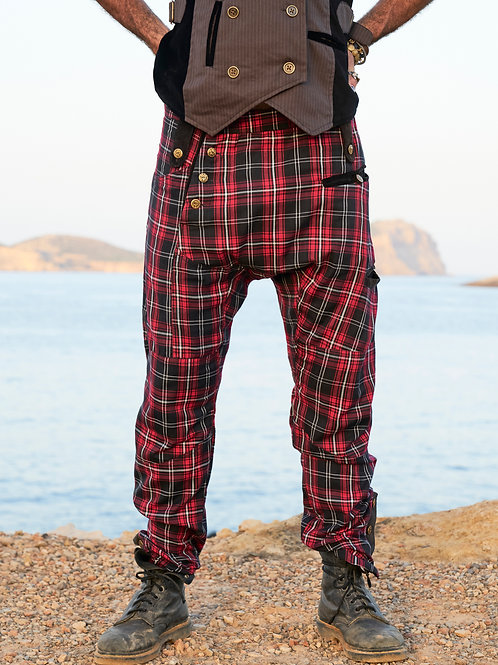 Red Plaid Nattaka Pants
