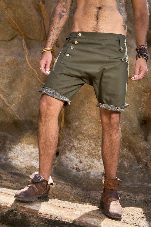 Dark Green Nattaka shorts
