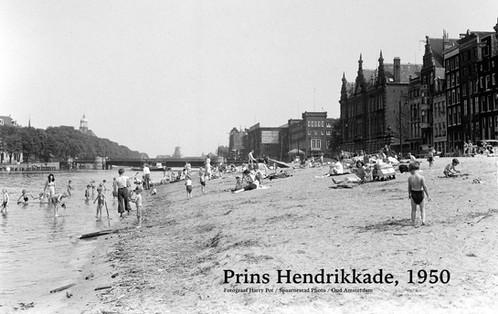 Prins Hendrikkade (Strandje), 1950.