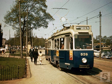 Stationsplein Centraal Station Amsterdam, 1955.