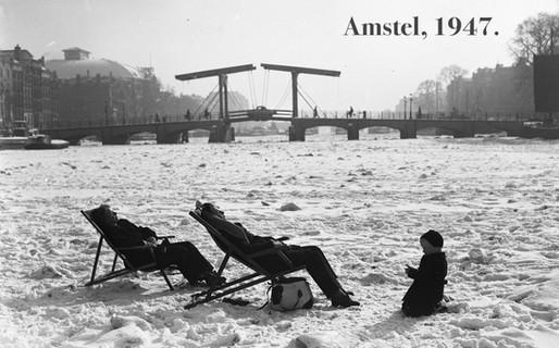 Genieten op de Amstel, 1947.