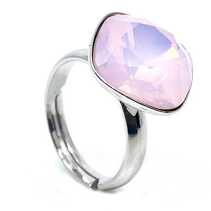 Square Ring Rose Opal