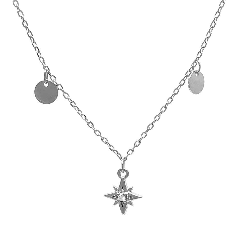 gargantilla plata estrella circonitas