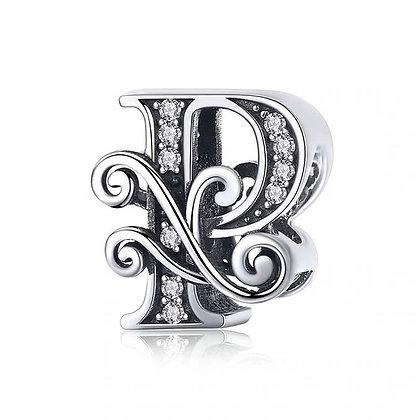 Charm plata letra P