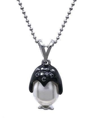 Collar Penguin Swarovski