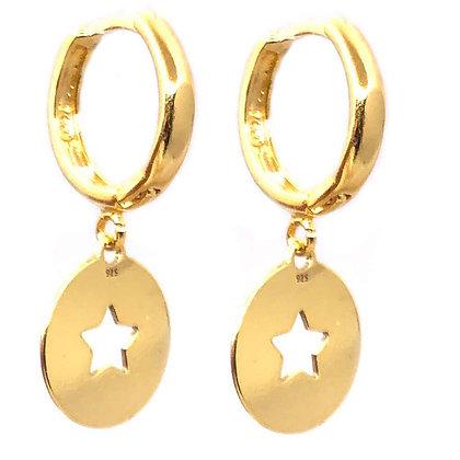 Aros Estrella Oro 24k
