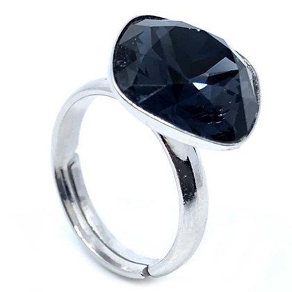Square Ring Black Diamond