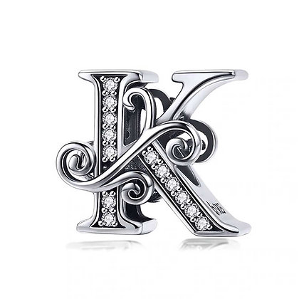 Charm plata letra K