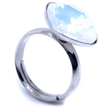 Square White Opal