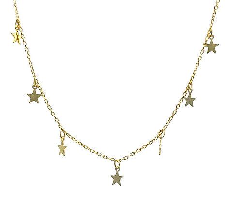 Gargantilla Oro Estrellas