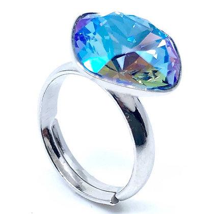 Square Ring Sapphire