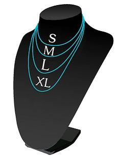 tallas collares de plata de Ley 925