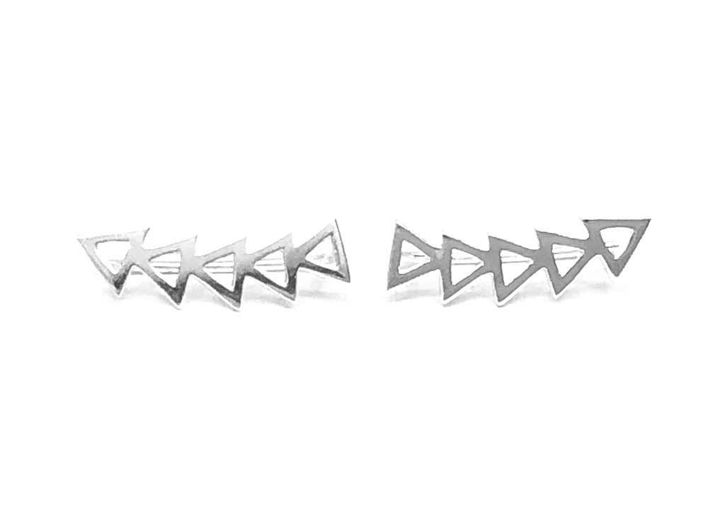 pendiente trepador triángulos