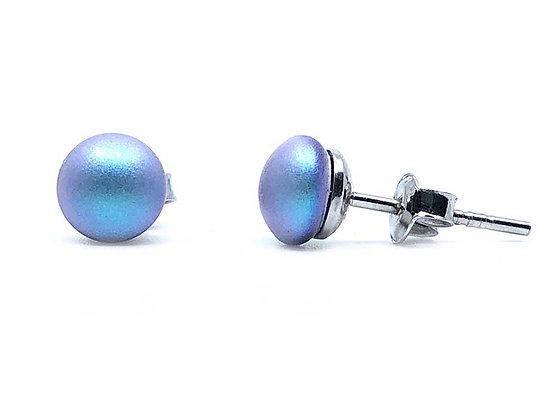 Small Pearl Blue Iridescent