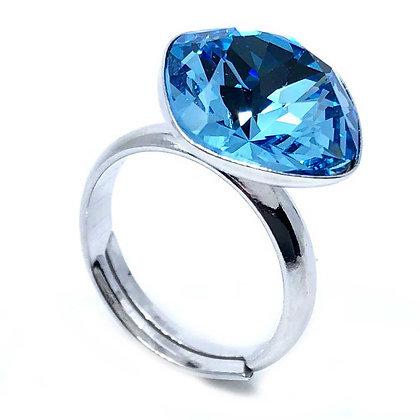 Square Ring Aquamarine