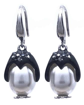 Pendientes Penguin Swarovski