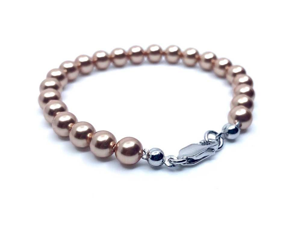 pulsera plata perlas