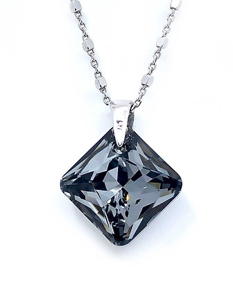 Collar Rhombus Crystal Silver