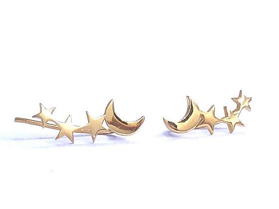 Trepadores Luna Estrellas Oro