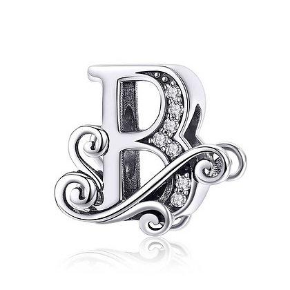 Charm plata letra B