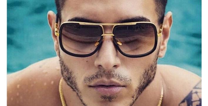 Mirror Gold Square Sunglasses