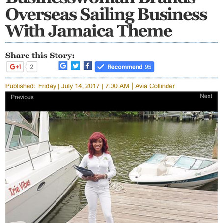 Businesswoman Brands Overseas Sailing Business With Jamaica Theme