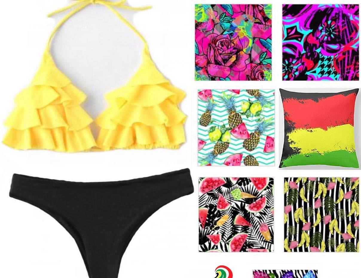 swimwear yellow design
