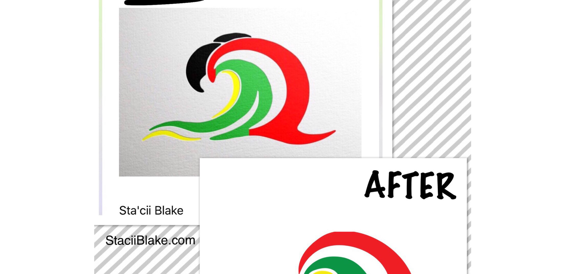 Before & After Logo for Island Chill Yacht Charters