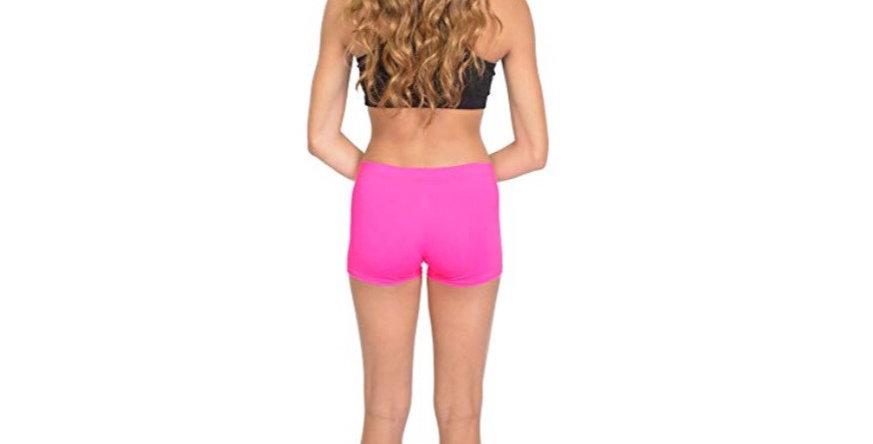 NYLON SPANDEX Stretch Booty Shorts