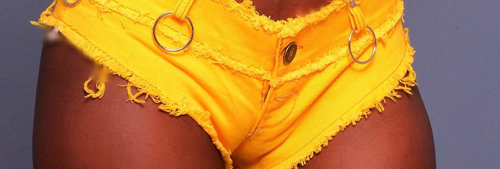 Vintage Yellow Booty Pop Shorts