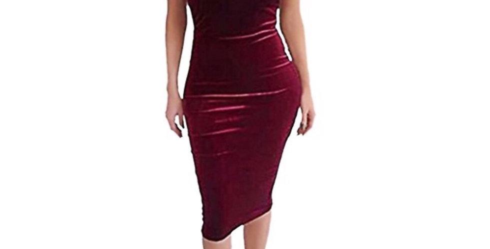 The Jazzy Belle Royal Velvet Dress